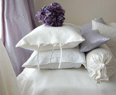Silk curtains. ( silk drapery) cushions cotton and linen