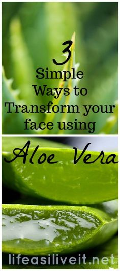 Simple ways to transform your face using Aloe Vera! In this post I describe 3 easy masks to help brighten, moisturize and make the skin clearer...DIY Beauty, natural beauty, simple home made face mask recipe