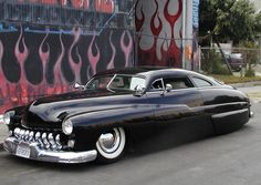 "The ""lead sled"" is a subculture of American car customizing, represented here by the iconic Mercury sedan customs of the Fifties and Sixties. Lead Sled, 49 Mercury, Mercury Cars, Dream Cars, My Dream Car, Ford Motor Company, F100, Vintage Cars, Antique Cars"