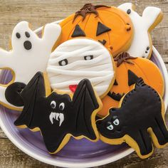 Halloween-Themed Frosted Sugar Cookies Recipe | Food and Entertaining