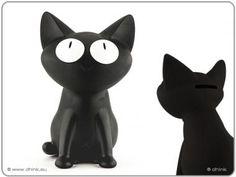 Spaarpot 'Silly Cat' (zwart)