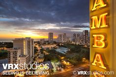 A sweeping, colourful view of the city at dusk, captured from the #Ambassador #Waikiki. View more stunning photography here: http://www.vrxstudios.com