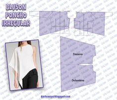 Bodice Pattern, Top Pattern, Blouse Patterns, Clothing Patterns, Sewing Clothes, Diy Clothes, Flattering Outfits, Modelista, Easy Sewing Patterns