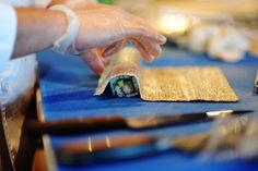 How to make Sushi - the kind with rice on the outside of the Nori. Great Step by step guide for first time sushi makers