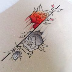 Tattoo drawing - brothers Grimm - Snow white & Rose red