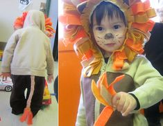 Easy no sew kids lion halloween costume pinterest lion halloween cute lion costume diy solutioingenieria Image collections