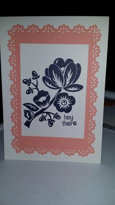 """Another stamp set I played with today was the """"Hey there Buds"""" and created this card"""