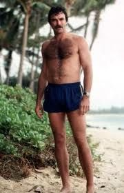 Tom Selleck as Magnum PI     omg this is exactly what my dad looked like in the 70's
