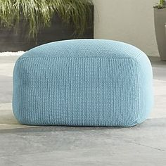 x1 Outdoor Square Mineral Pouf- S+K