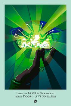 « Ce sont de braves hommes frappant à notre porte, allons les tuer. » Tyrion Lannister #GoT #GameOfThrones Robert M Ball