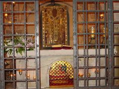 The tomb and relics of Saint Nicholas at the Orthodox Church in Bari, Italy