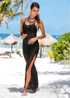 Strandkleid schwarz - bpc selection jetzt im Online Shop von bonprix.de ab € 9,99 bestellen. Langes Strandkleid mit einem V-Ausschnitt und ...