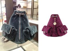 Chanel Charcoal Grey Velvet Backpack Back Large Bag