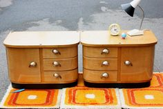2 small chests of drawers old side tables por wohnraumformer