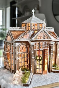 Gingerbread House Designs, Christmas Gingerbread House, Noel Christmas, Christmas Goodies, Gingerbread Houses, Christmas Cakes, Christmas Ideas, Xmas, Ginger House