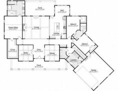 This farmhouse design floor plan is 2883 sq ft and has 3 bedrooms and has bathrooms. House Plans And More, Dream House Plans, Small House Plans, House Floor Plans, Farmhouse Design, Farmhouse Style, Modern Farmhouse, House Architecture Styles, Southern House Plans