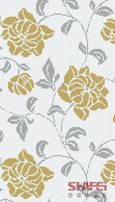 Counted Cross Stitch Patterns, Cross Stitch Designs, Cross Stitch Embroidery, Cross Stitch Rose, Cross Stitch Flowers, Hand Embroidery Videos, Embroidery Patterns, Flower Chart, Norwegian Knitting