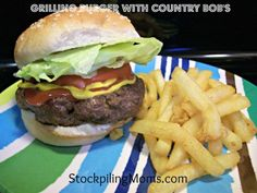 Grilling Burger with Country Bob's - LOVE  http://www.stockpilingmoms.com/2012/08/grilling-burger-with-country-bobs/