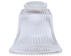 Append an elegant and stylish manifestation to your indoor decor by choosing Clear Ribbed Bell with Fitter from Westinghouse. Glass Light Shades, Lamp Shades, Easy Home Upgrades, Replacement Glass Shades, Old Lamps, Wall Fixtures, Custom Lighting, Lamp Light, Clear Glass