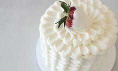 How to Frost a Petal Cake