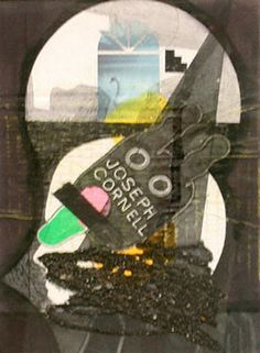 Ray Johnson - Untitled (Joseph Cornell Bunny with Sand and Swan)