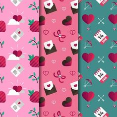 Design Plano, Simple Backgrounds, Flat Design, Washi Tape, Vector Free, Valentines Day, Projects, Cards, Prints