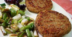Hamburguesas veganas de soja texturizada. #Receta #Vegana