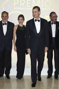 If there's one thing that sends us into overdrive more than seeing the royals being, you know, just the royals, it's seeing them looking all elegant and dapper in their best black-tie attire. So when Queen Letizia and King Felipe VI of Spain stepped out in coordinating elegant looks to attend the Mariano De Cavia Awards in Madrid on Dec. 10, we lost it a bit.