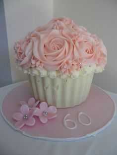 Giant Cupcake cake by Cupcake Creations by Cassandra