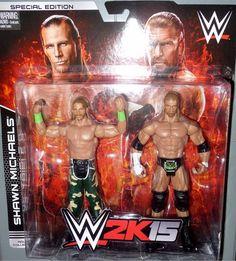 SHAWN MICHAELS vs TRIPLE H dx WWE Mattel 2K15 Battle 2 Pack Action Figure Toys in Toys & Hobbies, Action Figures, Sports | eBay