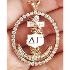 The badge our international president, Laurie Roselle, wore to Founders Day. (Well timed on this International Badge Day. Delta Gamma, Founders Day, Alpha Chi Omega, Sorority Gifts, Fraternity, San Jose, Bling, Greek Life, Badges