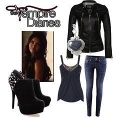 Vampire diaries outfits, vampire diaries the originals, vampire outfits, ka Vampire Diaries Outfits, The Vampire Diaries, Vampire Diaries Costume, Vampire Outfits, Vampire Costumes, Nina Dobrev, Bonnie Bennett, Winter Outfits, Cool Outfits
