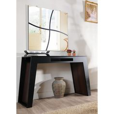 @Overstock.com - Atrix Black Walnut Finish Modern Console Table -  I like this style for the entry too  http://www.overstock.com/Home-Garden/Atrix-Black-Walnut-Finish-Modern-Console-Table/7402161/product.html?CID=214117 $188.78