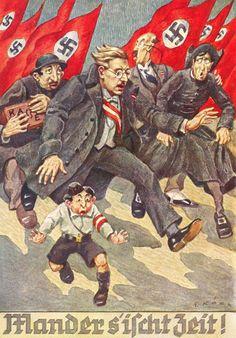 """Nationalsozialistische Propagandapostkarte zum """"Anschluss"""" Österreichs, 1938"""