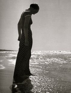 Woman at the Sea by Andreas Feininger 1933