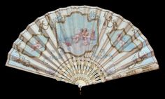 """Cupidons in Training"" A Fan Painted by L. Stouder - Date: ca. 1900 - MadAboutFans.com"