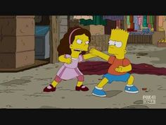 The Simpsons - Krav Maga VS Karate - YouTube