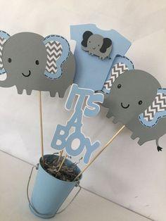 centro de mesa infantil para varon nacimiento