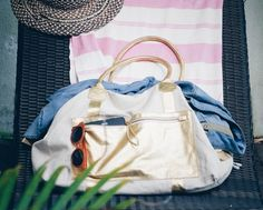 Traveller canvas+gold Always ready to go :-) #summer #gym #travel #light #artisan #bali #holiday #gold