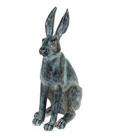 Love this Cast Iron-Finish Rabbit Figurine on #zulily! #zulilyfinds