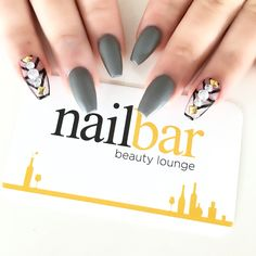 Ballerina nails with negative spaces and matte effect.