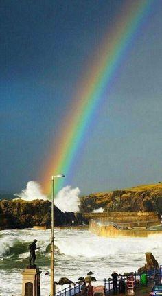 7058979895c7c Smack (Slapping the water) Rainbow Sky