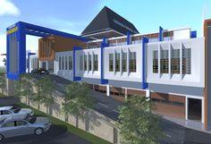 Prabumulih modern market design by.LIMASAKA studio