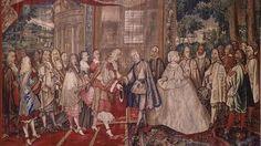 La función artística de Velázquez se limitó a la selección de los tapices que iban a decorar los pabellones donde se iba celebrar el encuentro entre Luis XIV y Felipe IV. No hay ningún encargo de este encuentro, lo que indica el permanente debate de los Austrias españoles en el siglo XVII sobre la verdadera utilidad de las imágenes,