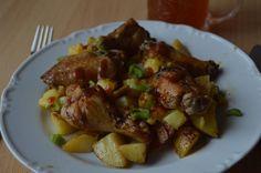 PEČENÉ ZEMIAKY S KRÍDELKAMI Tentokrát recept trochu náročnejší na prípravu, ale o to lepší. Nemusíte sa však báť. Čím zložitejší recept, tým podrobnejší popis postupu + viac foto z prípravy. Pork, Meat, Kale Stir Fry, Pork Chops