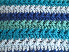 Easy Crochet Beginners Baby Blanket Free Pattern A simple design yet creates a beautiful sophisticated blanket! Perfect for a beginner!   Skill Level: Easy Materials: – Any medium worsted wei…