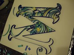 A Can of Crafty Curiosities: Paper Quilled Monogram - Letter M