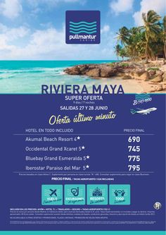Super Oferta Ultimo Minuto Riviera Maya Salidas 27 y 28 de Junio - http://zocotours.com/super-oferta-ultimo-minuto-riviera-maya-salidas-27-y-28-de-junio-2/