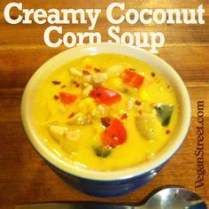 Creamy Coconut Corn Soup