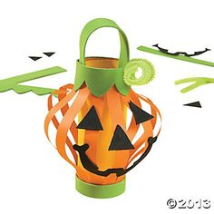 Paper Jack-O'-Lantern Craft idea